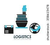 logistics service design    Shutterstock .eps vector #358615478