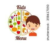 kids menu design  | Shutterstock .eps vector #358617050