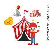 circus entertainment design  | Shutterstock .eps vector #358620134