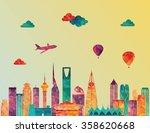 riyadh skyline. vector... | Shutterstock .eps vector #358620668