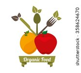 health and organic food design  | Shutterstock .eps vector #358624670