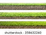 grass with roots and soil  | Shutterstock . vector #358632260