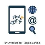 wifi connection design    Shutterstock .eps vector #358633466