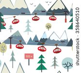 ski sport and mountains... | Shutterstock .eps vector #358640510