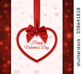 happy valentines day greeting... | Shutterstock .eps vector #358641818