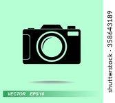 photo camera sign icon  vector... | Shutterstock .eps vector #358643189
