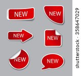 advertising stickers | Shutterstock .eps vector #358647029