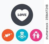 Valentine Day Love Icons. I...