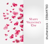 flying red hearts happy... | Shutterstock .eps vector #358649783