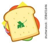 sandwich. illustration of an... | Shutterstock .eps vector #358651646