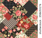 seamless floral patchwork... | Shutterstock .eps vector #358653176