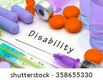disability   diagnosis written...   Shutterstock . vector #358655330