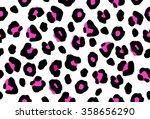 seamless pink leopard skin... | Shutterstock .eps vector #358656290