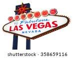 welcome to las vegas neon sign | Shutterstock . vector #358659116