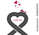 urban asphalt road heart with... | Shutterstock .eps vector #358660544