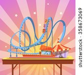 amusement park cartoon with... | Shutterstock .eps vector #358673069