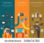 photography vertical banner set ... | Shutterstock .eps vector #358676783