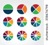 set of segmented spheres used... | Shutterstock .eps vector #358676798