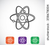atom sign vector icon | Shutterstock .eps vector #358678004