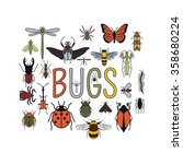 Insects Icon Flat Style. 24...