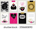 love collection with 8 cards.... | Shutterstock .eps vector #358680890