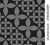 seamless circle pattern.... | Shutterstock .eps vector #358681889