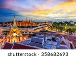 grand palace and wat phra keaw... | Shutterstock . vector #358682693