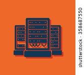 server cabinets vector icon.... | Shutterstock .eps vector #358687550