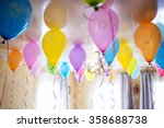 group of colorful balloons on... | Shutterstock . vector #358688738