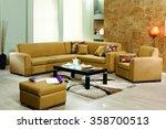 corner sofa set   Shutterstock . vector #358700513