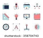 creative design process icons.... | Shutterstock .eps vector #358704743