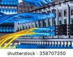 fiber optic connecting on core...