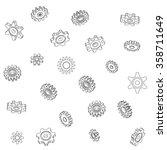 a mechanical vector background... | Shutterstock .eps vector #358711649