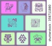 seamless pattern with peruvian... | Shutterstock .eps vector #358711880