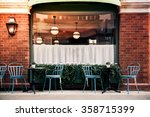 empty coffee terrace with... | Shutterstock . vector #358715399