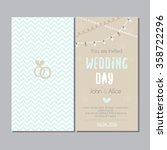 wedding card invitation with... | Shutterstock .eps vector #358722296