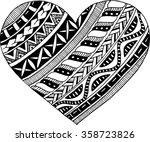 doodle heart | Shutterstock .eps vector #358723826