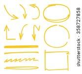 highlighter elements  hand...   Shutterstock .eps vector #358727858