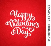 happy valentine's day card.... | Shutterstock .eps vector #358729238