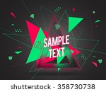 abstract geometric triangle and ... | Shutterstock .eps vector #358730738