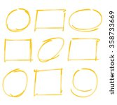 yellow marker text selection...   Shutterstock .eps vector #358733669