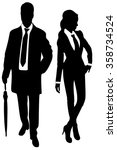 young business couple with... | Shutterstock .eps vector #358734524