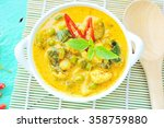 green curry with chicken in...   Shutterstock . vector #358759880