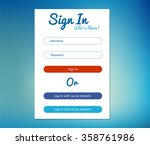vector login form ui element in ... | Shutterstock .eps vector #358761986