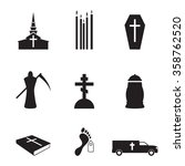 death icons | Shutterstock .eps vector #358762520