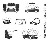 carwash icons | Shutterstock .eps vector #358762820