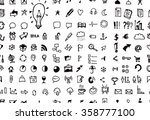 hand drawn seamless doodle... | Shutterstock .eps vector #358777100