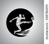 football or soccer player kicks ... | Shutterstock .eps vector #358780493