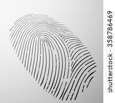 fingerprint human. personal... | Shutterstock . vector #358786469