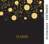 modern chic black gold...   Shutterstock .eps vector #358786850